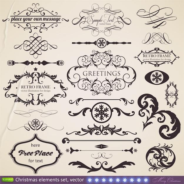 Calligraphy Border Certificate Greeting Document Premium Vector