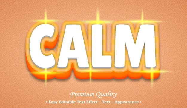 Calm 3d editable text style effect Premium Vector