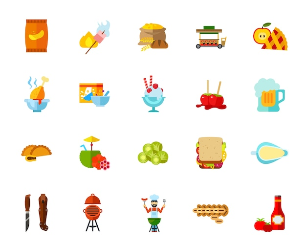 Calories icon set Free Vector