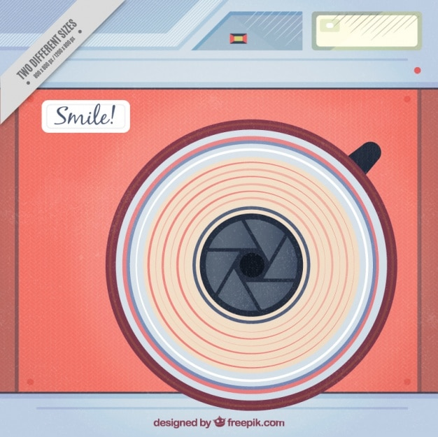 Camera background in vintage style