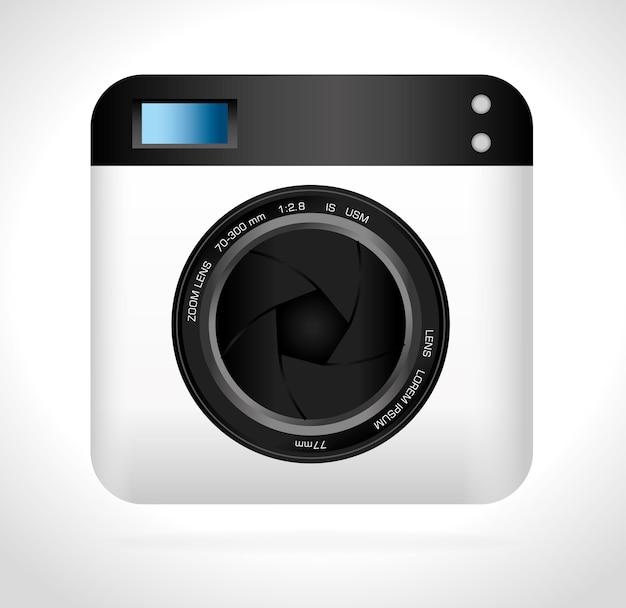 Camera design. Premium Vector