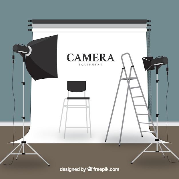 Camera Equipment Illustration Free Vector