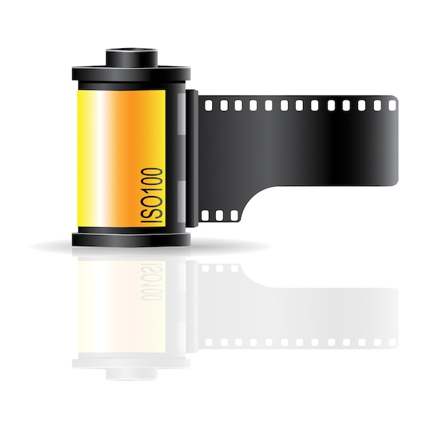 Camera film roll sign icon vector Premium Vector