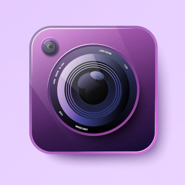 Camera icon for app Premium Vector