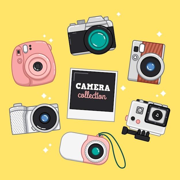 Camera illustration collection vector free download for Camera gratis