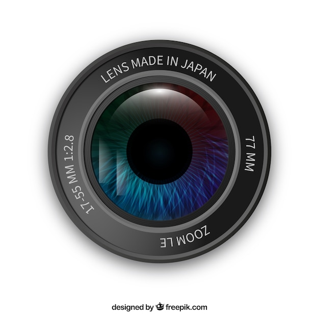 Camera lens with an eye vector free download for Camera gratis