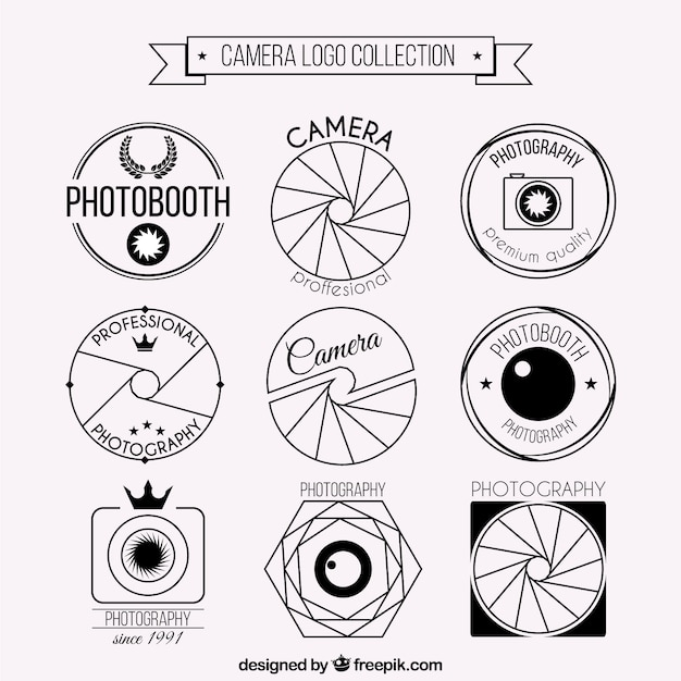 Camera logo set | Premium Vector