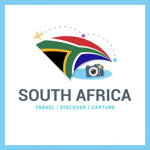 camera logo with south african flag Vector | Free Download