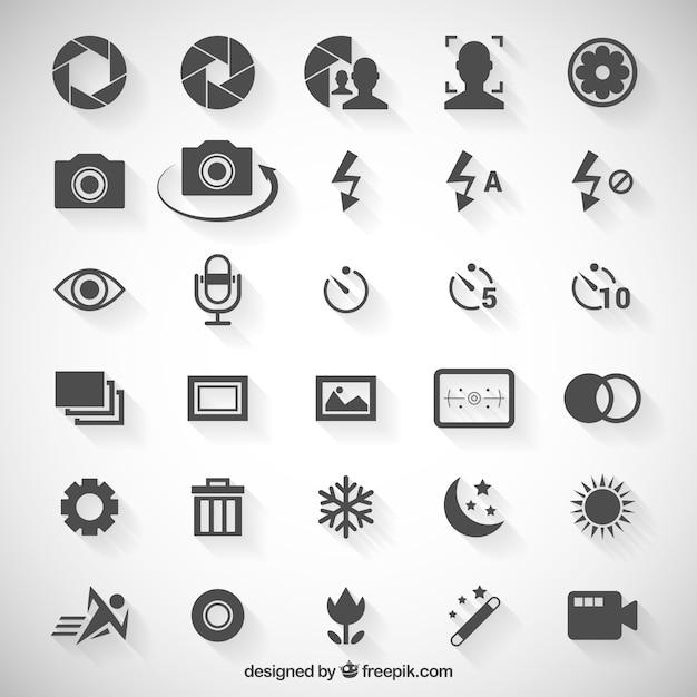 Camera Option Icons Vector Premium Download