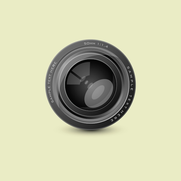 Camera photo lenses Premium Vector
