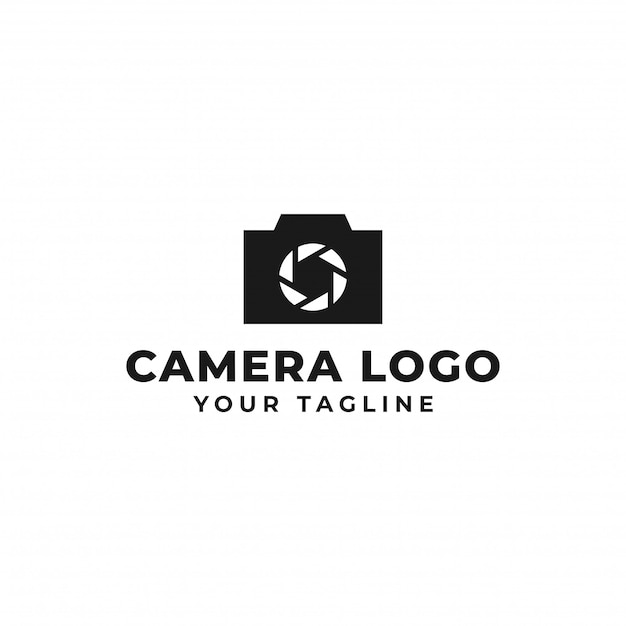 Camera photography, shutter logo design Premium Vector