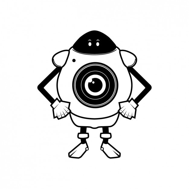 Camera robot Free Vector