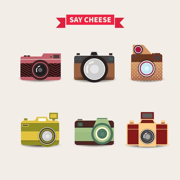 Cameras collection Free Vector