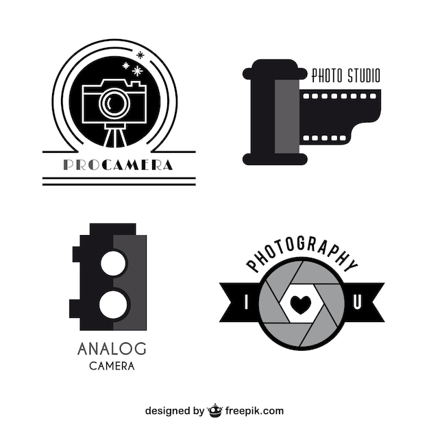 Cameras logo templates pack Vector | Free Download