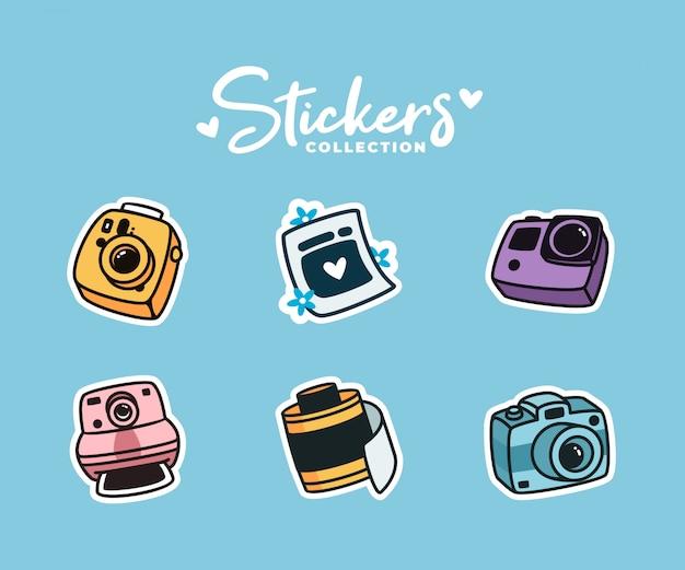 Cameras_stickers Premiumベクター