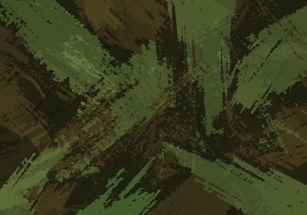 Camouflage brush strokes background Premium Vector