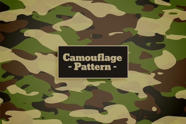 Camouflage pattern background for army and military Free Vector