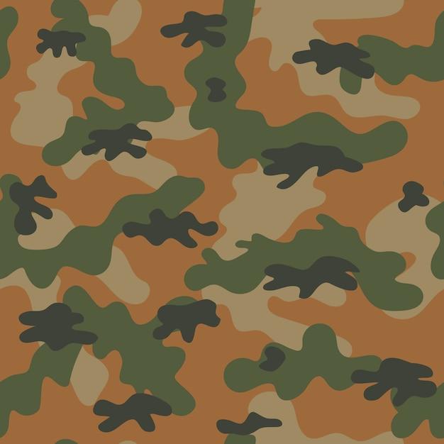 Camouflage seamless pattern. vector illustration Premium Vector