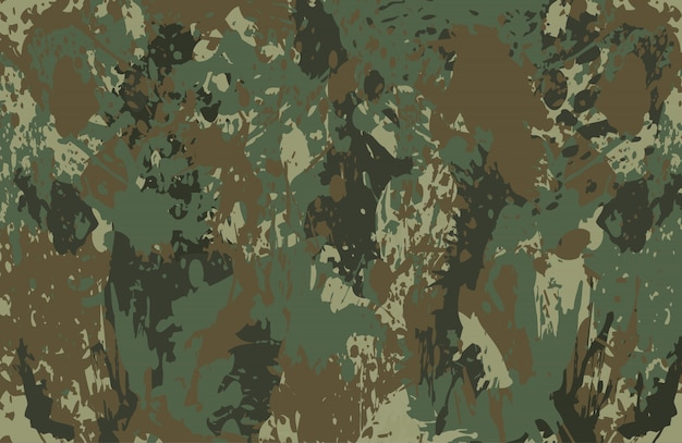 Camouflage splatters background Premium Vector