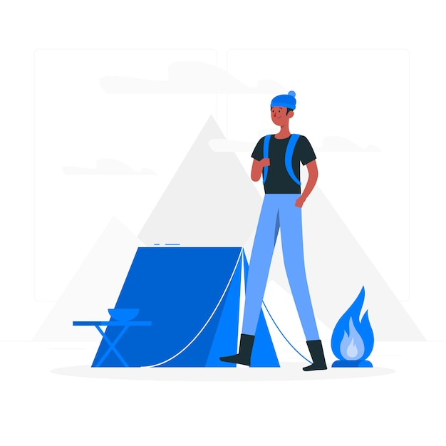 Camping concept illustration Free Vector