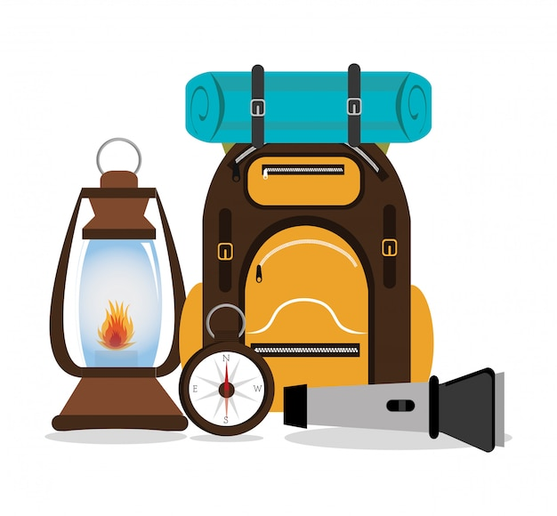 Camping design,  illustration. Free Vector