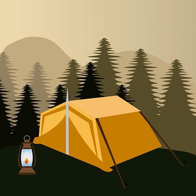 Camping design. Premium Vector