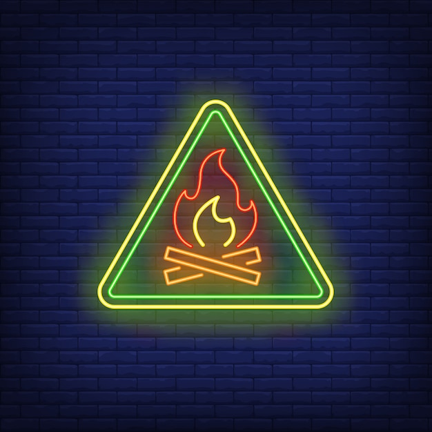Camping neon sign Free Vector