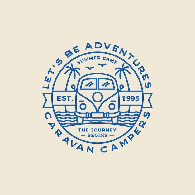 Camping outdoor and adventure logos, badges, labels, emblems, marks and design elements. graphic art.  . Premium Vector