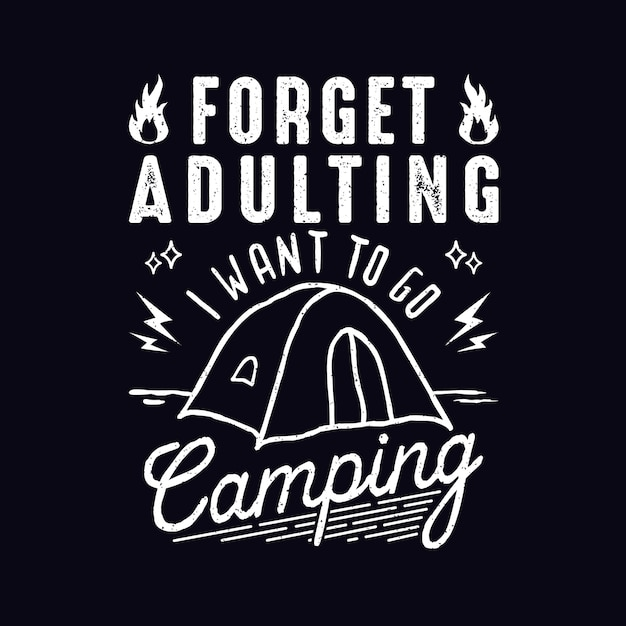 Camping Quotes | Camping Quotes Design Vector Premium Download