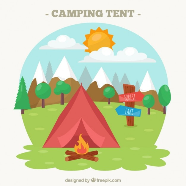 Camping tent illustration