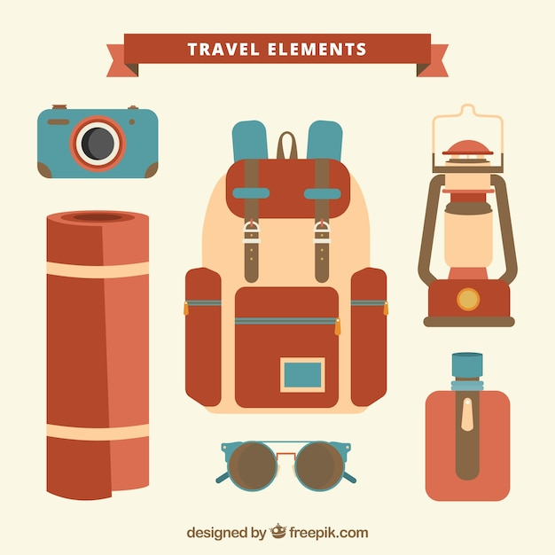 Camping travel elements