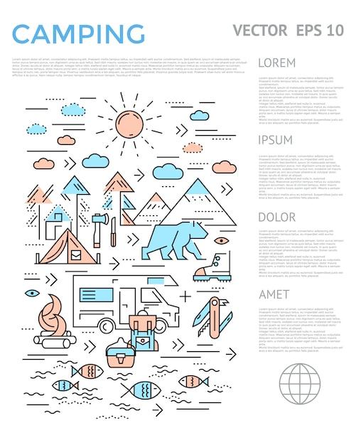Infografica verticale da campeggio Vettore gratuito