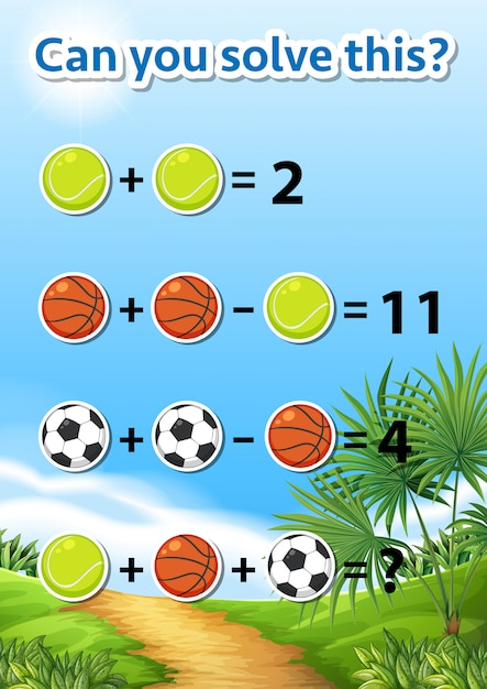 Can you solve this Free Vector