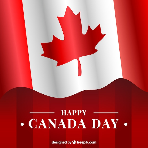 canada day background with canadian flag vector free