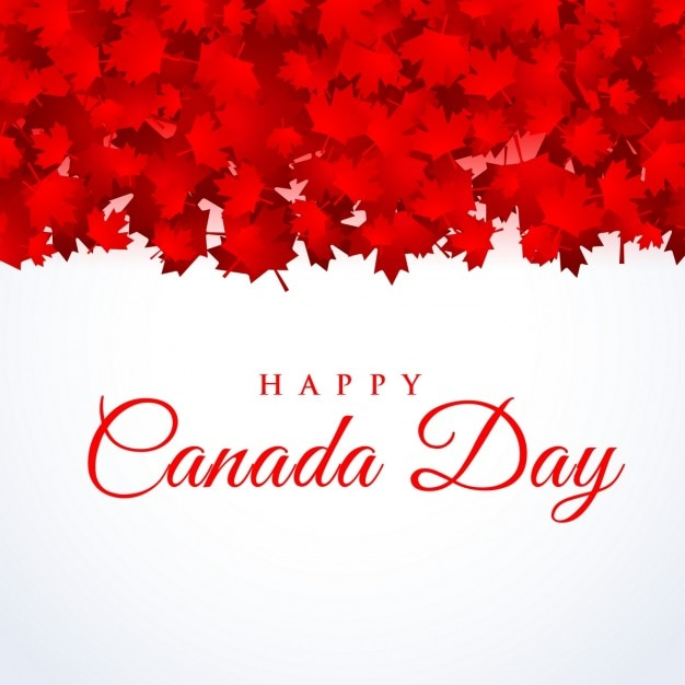 Free Vector Canada Day Background With Maple Leafs