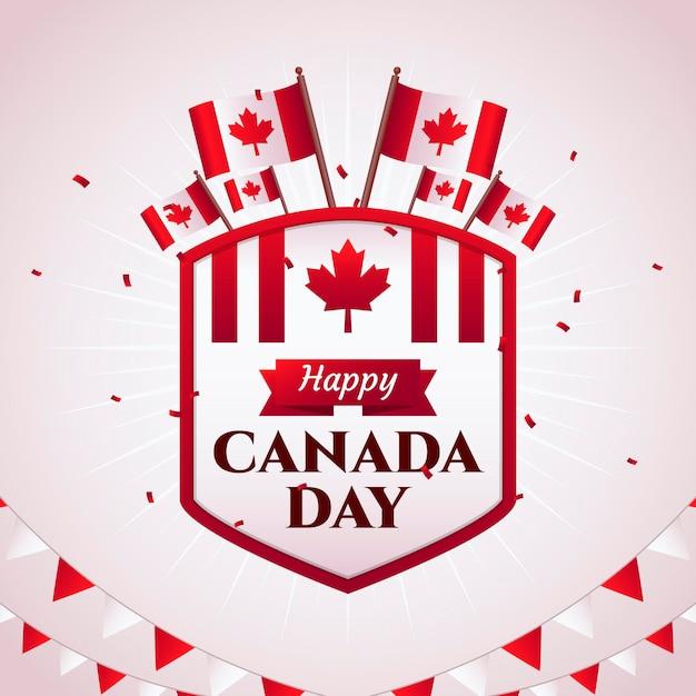 Canada day celebration Free Vector