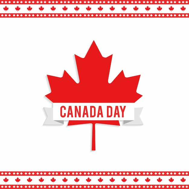 canada day design with maple leaf vector free download. Black Bedroom Furniture Sets. Home Design Ideas