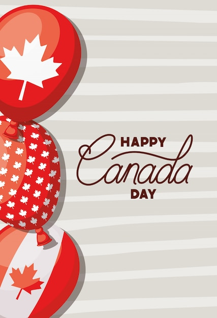 Canada day with maple leaf banner Free Vector