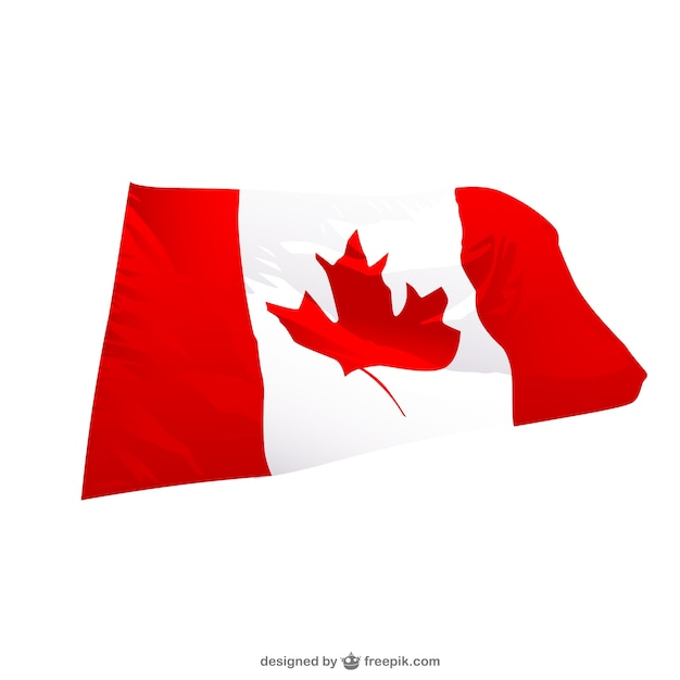 canadian wavingr flag vector free download rh freepik com canada flag vector free download canada flag vector free download