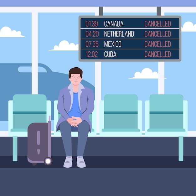 Аннулированный рейс объявить дизайн Бесплатные векторы