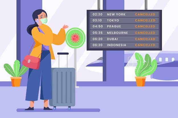 Объявление об отмене рейса Бесплатные векторы