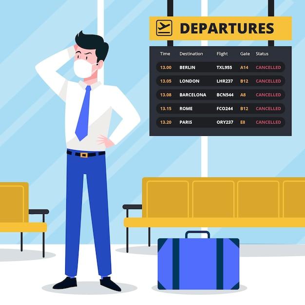 Концепция отмененного рейса Premium векторы