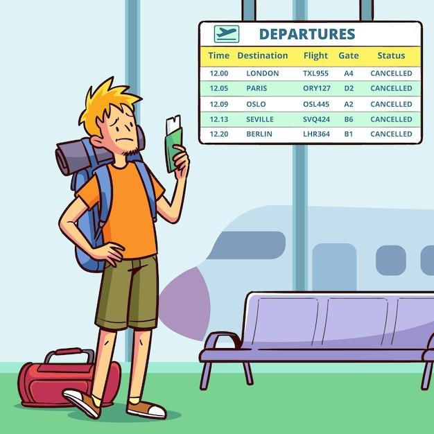 Концепция отмененного рейса Бесплатные векторы