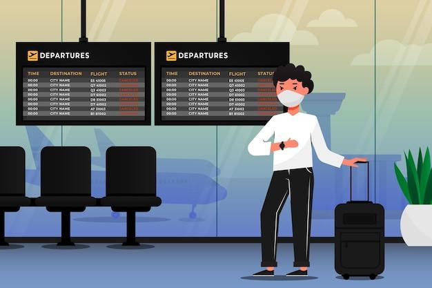 Отменен рейс с пассажиром Бесплатные векторы