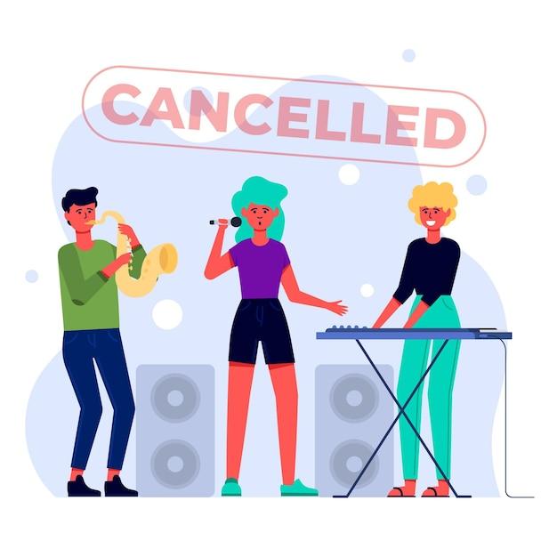 キャンセルされた音楽イベント 無料ベクター
