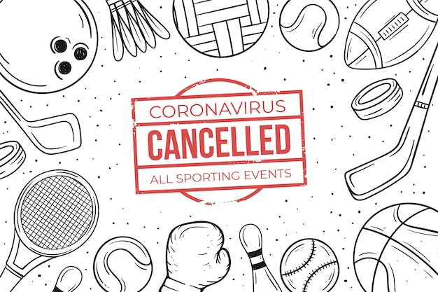 Cancelled sporting events background Premium Vector