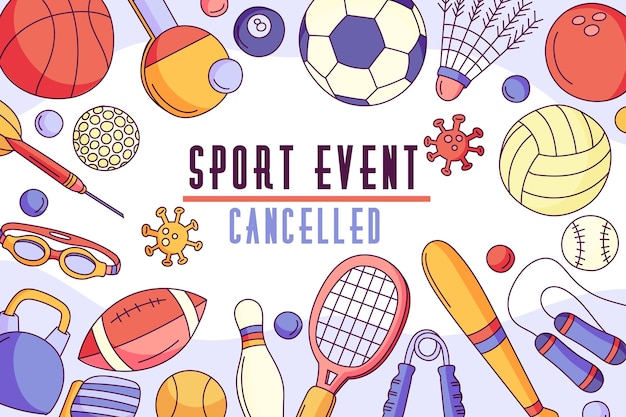 Cancelled sporting events - background Premium Vector