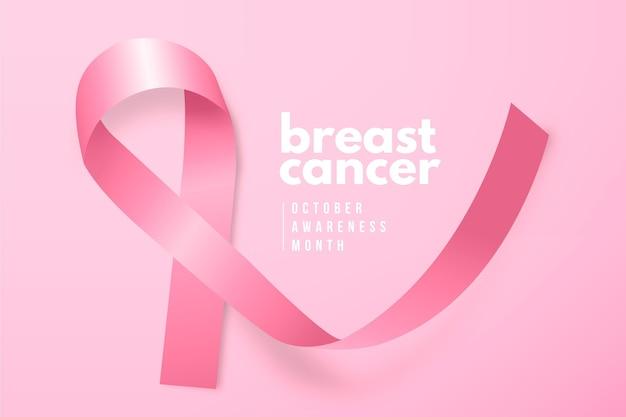Осведомленность о раке с розовой лентой Premium векторы
