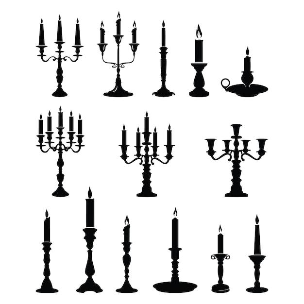 Candle Candlestick Chandelier Classic Ornament Premium Vector