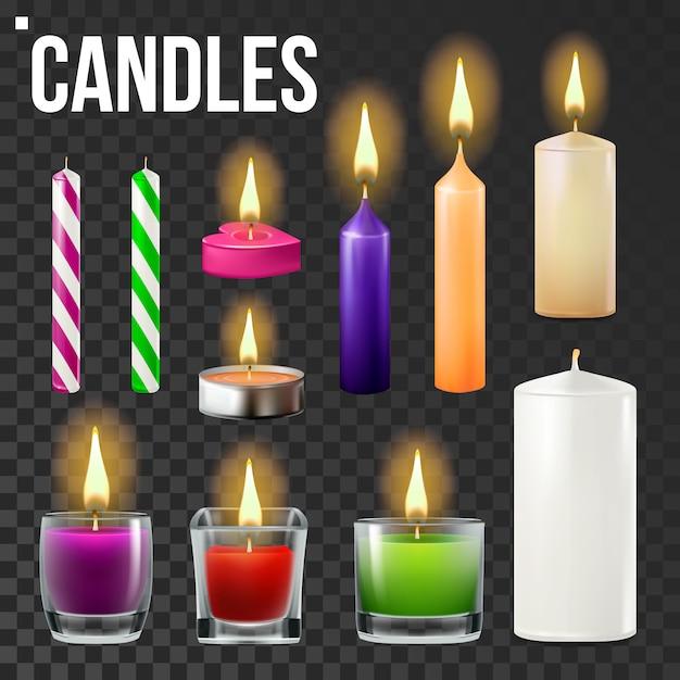 Candles set Premium Vector